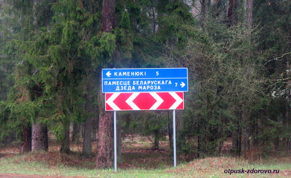 Дорожный указатель. Экскурсия по Беловежской Пуще, Беларусь