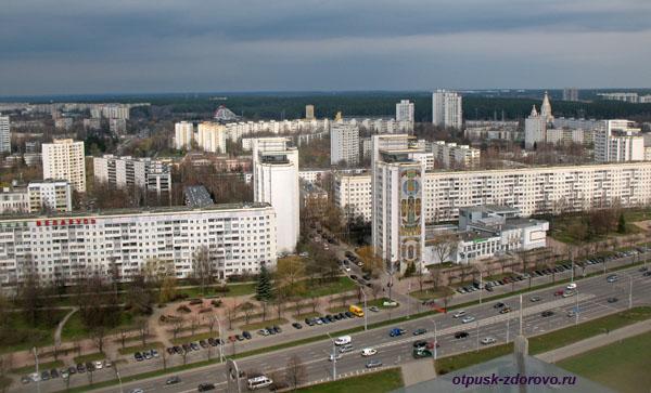 Минск. Вид со смотровой площадки белорусской национальной библиотеки