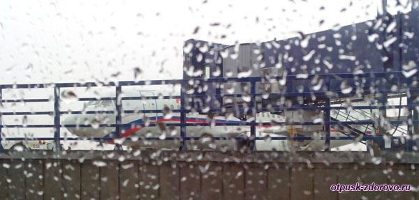 Аэропорт Внуково, дождь