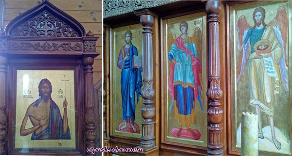 Иконы в храме Иоанна Предтечи, Дудутки, Беларусь
