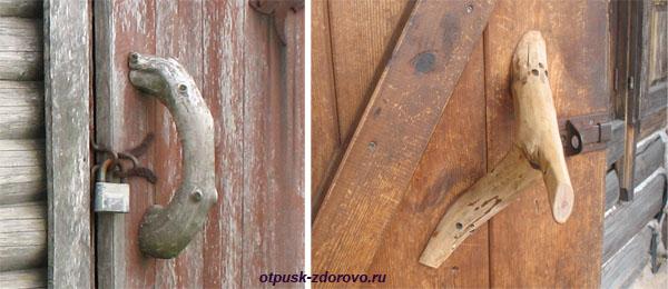Деревянные дверные ручки, Дудутки, Беларусь