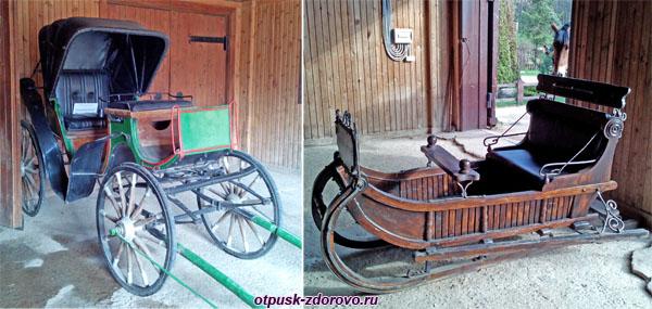Карета и сани (без лошади), Дудутки, Беларусь