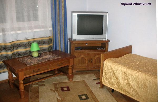 Номер в гостиничном комплексе Каменюки на территории Беловежской Пущи