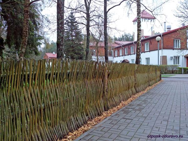 Территория гостиничного комплекса Каменюки в Беловежской Пуще