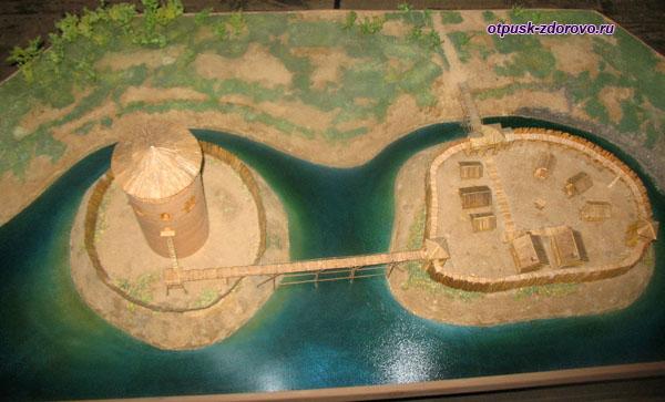 Город Каменец, Башня и окрестности, история, макет. Брестская область