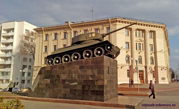 Памятник Танк-Освободитель, Минск, достопримечательности
