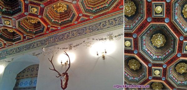 Потолок в столовом зале, Мирский замок, Мир, Беларусь
