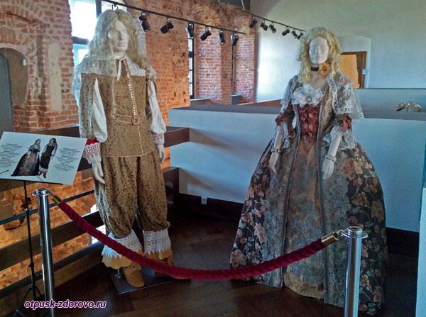 Старинные бальные костюмы, Мирский замок, Мир, Беларусь