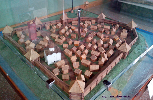 Макет. Археологический музей Берестье в Бресте, Беларусь