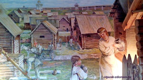 Картина. Археологический музей Берестье в Бресте, Беларусь