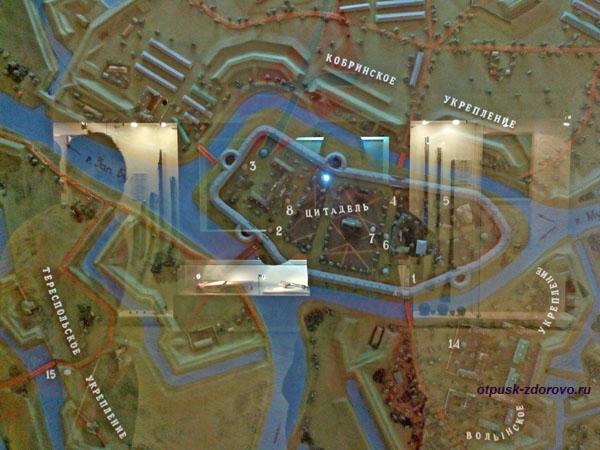Карта, Цитадель и укрепления. Музей истории и обороны Брестской Крепости, Беларусь