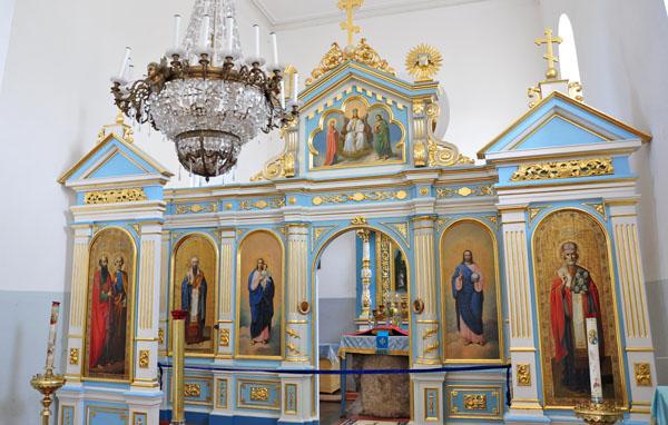 Освященный камень под престолом Свято-Явленской церкви, Свято-Успенский Жировичский монастырь, Жировичи, Беларусь
