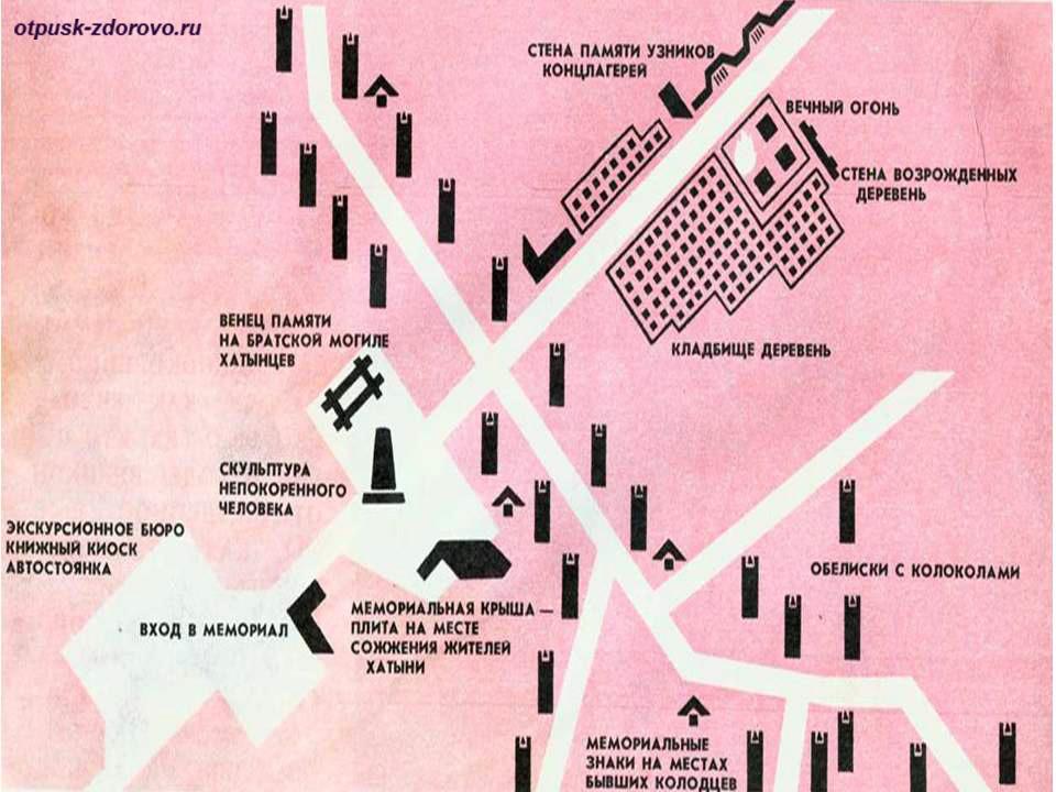 План Мемориального комплекса Хатынь, Беларусь