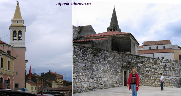Город Пореч, Хорватия, церковь и крепость