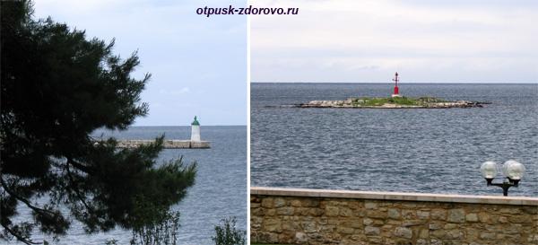 Город Пореч, Хорватия, набережная, маяк