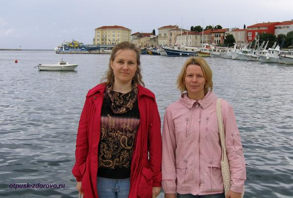 Город Пореч, Хорватия, набережная, порт