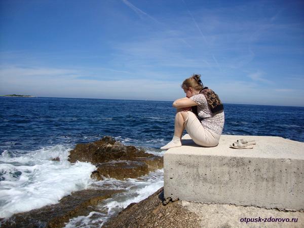 Хорватия, Пореч, Зеленая Лагуна, волны