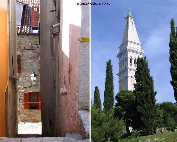 Ровинь, полуостров Истрия, Хорватия церковь св. Эуфимии