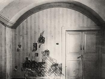 подвал дома Ипатьева в Екатеринбурге, расстрел царской семьи