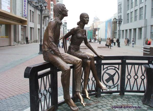 Екатеринбург, улица Вайнера, памятник влюбленным