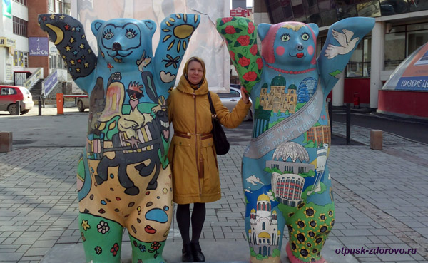 Екатеринбург, улица Вайнера, берлинские медведи