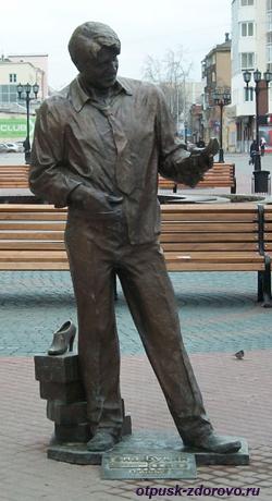 Екатеринбург, улица Вайнера, памятник Гене Букину