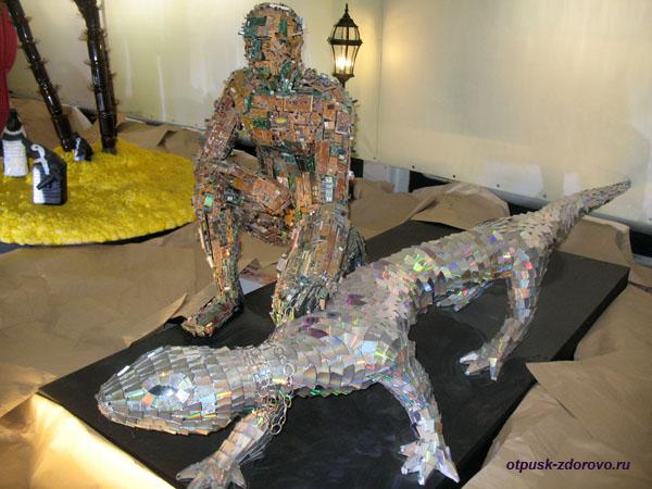 Плато-человек и диско-ящер, Музей Мусора в Калужской области