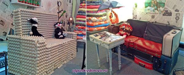 Необычные диваны, Музей Мусора в Калужской области