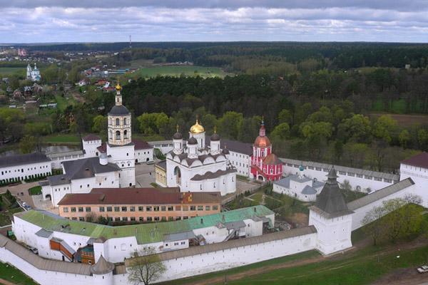 Пафнутьевский монастырь в Боровске, план карта