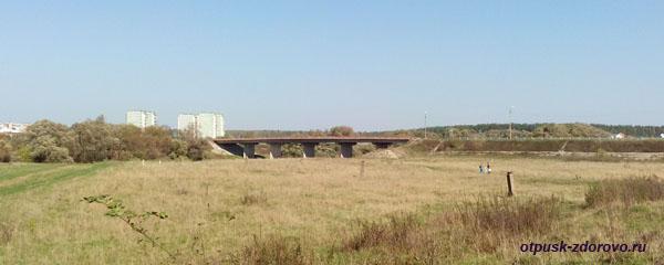 Мост через Протву. Вид от Усадьбы Дашковой, село Троицкое Калужской области