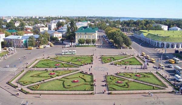Кострома-сковордка, центральная площадь имени Ивана Сусанина