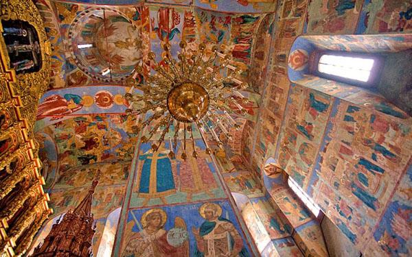 Фрески Троицкого храма в Ипатьевском монастыре, Кострома