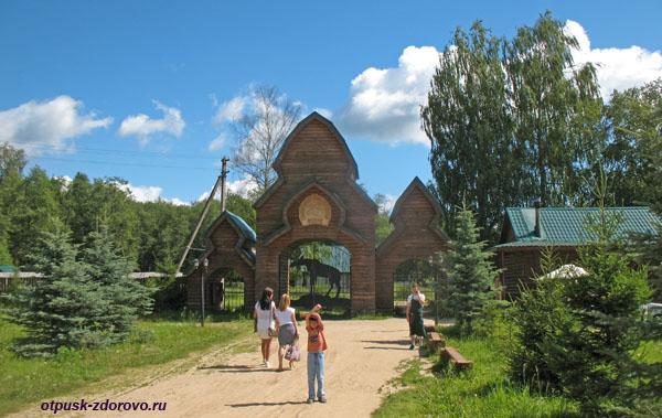 Вход на лосиную ферму, Кострома