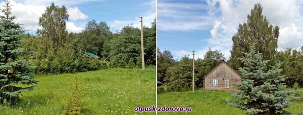 Деревянные домики в сумароковском заповеднике, Кострома