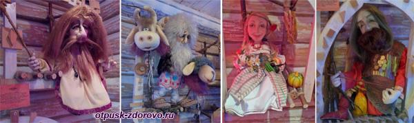 Коллекция сказочных персонажей в Тереме Снегурочки, Кострома