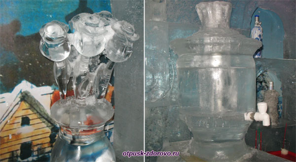 Розы и самовар изо льда, Ледяная комната в Тереме Снегурочки, Кострома