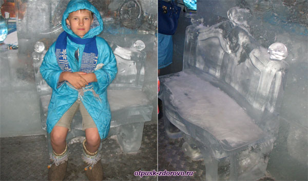 Ледяная лавочка в Тереме Снегурочки, Кострома