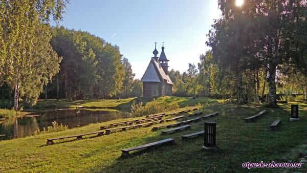 церковь Всемилостивого Спаса на территории музея деревянного зодчества, Кострома