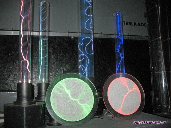 Опыты с электричеством в Музее Тесла, Адлер