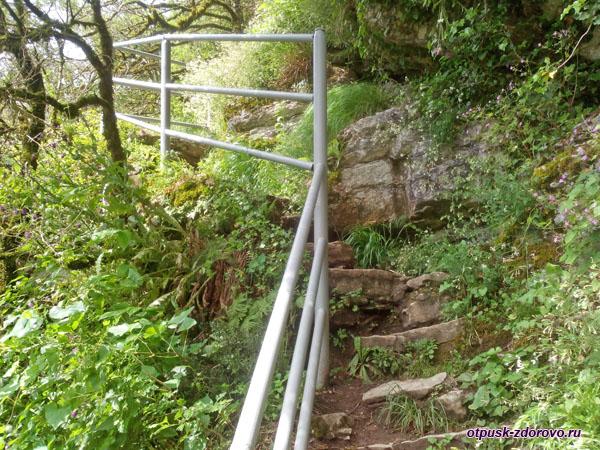 Тропа и ступени к Ахштырской пещере, Адлер (Сочи)