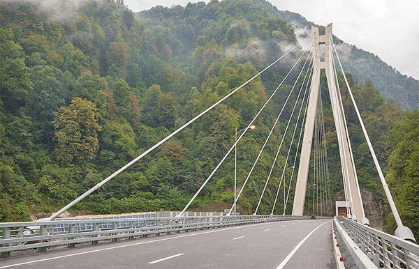 Вантовый мост на Краснополянском шоссе