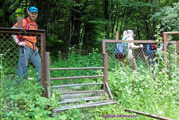 Невысокий забор у санатория Красная Поляна