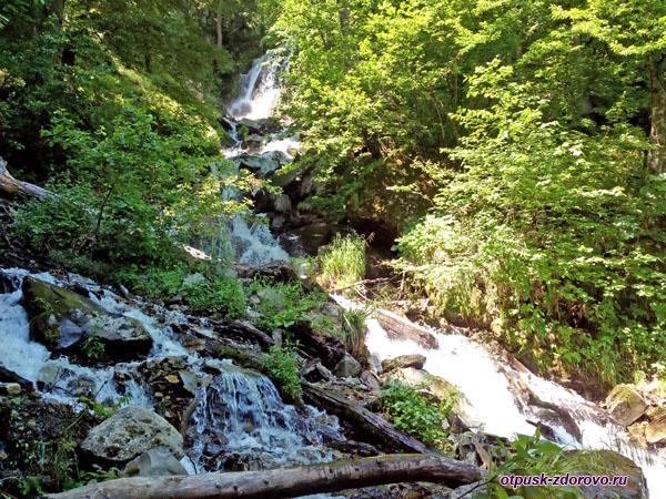 Поднимаемся к водопаду Кейва в Красной Поляне, Сочи