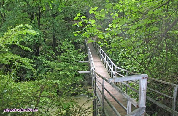 Мост возле второго Агурского водопада, Сочи