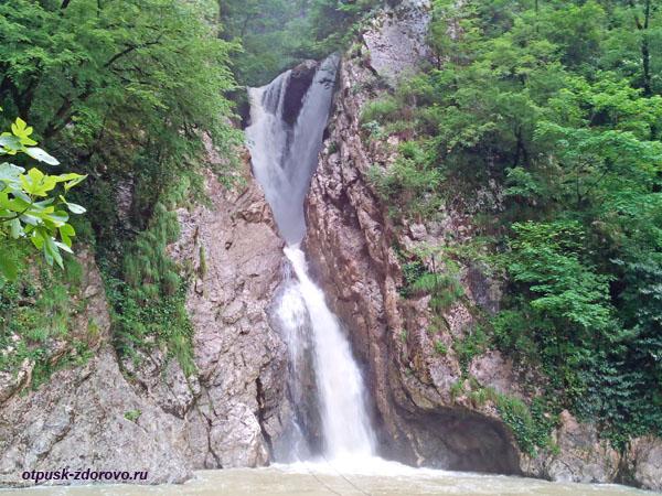 Второй Агурский водопад, Сочи