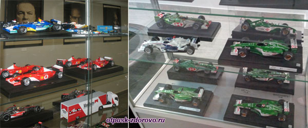 Макеты гоночных машин в музее Формулы-1, Адлер