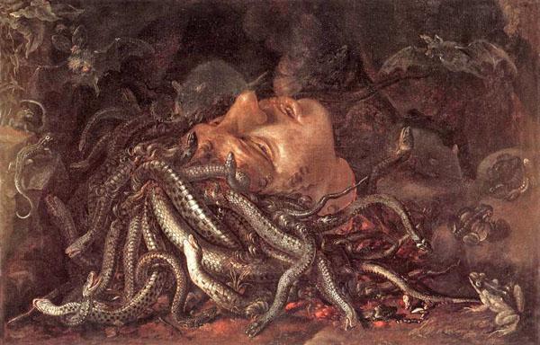 Щит медузы Горгоны, картина Леонардо да Винчи