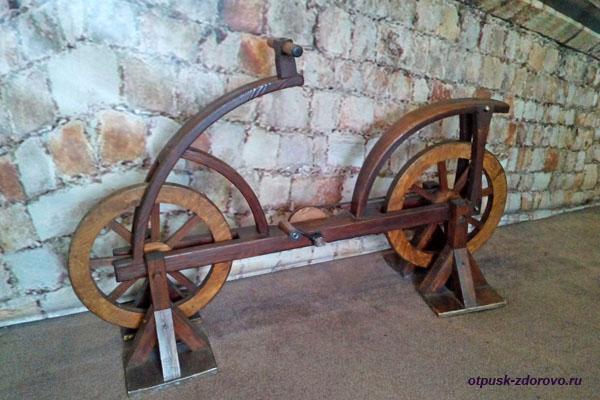 Велосипед, изобретение Леонардо да Винчи