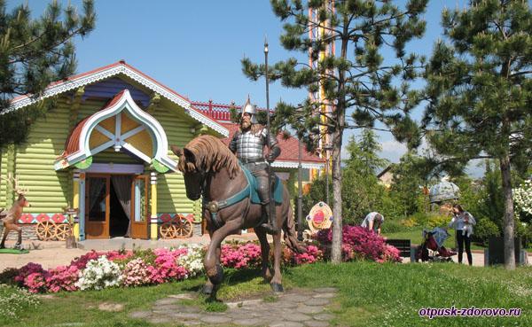 Богатырь на коне, Сочи Парк