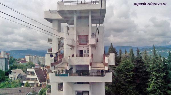 Смотровая башня - верхняя станция канатки, Парк Дендрарий в Сочи